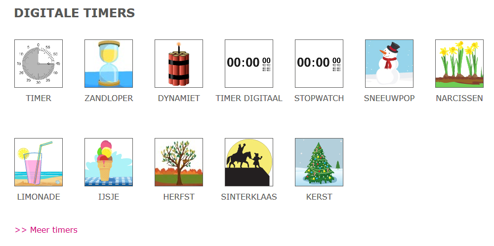 analoge time timer menu | digibordtool